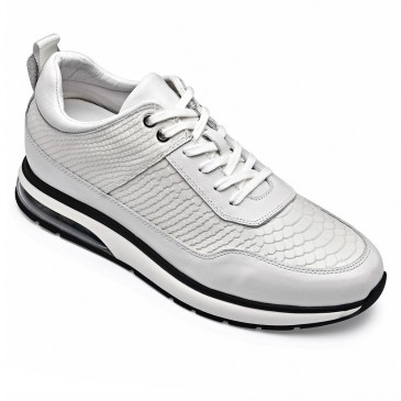 CHAMARIPA air cushion increasing shoes for men white sneakers that make you 8CM / 3.15 Inches taller