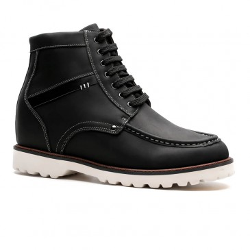 Chamaripa Height Increasing Boots Tall Men Boots Black Hidden Heel Shoes for Men 9 CM / 3.54 Inches