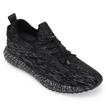 Chamaripa elevator sneakers that give you height 7 CM black height increasing sneakers for men 2.76 Inches