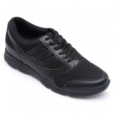 Comfortable Height Increasing Shoes Black Mens Elevator Sneakers Sports Athletic Trainers Sneakers shoes
