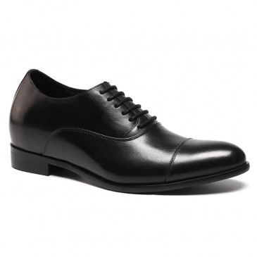 Oxfords Black Elevator Dress Shoes to Make You Taller Men Cow Leather Wedding Shoes