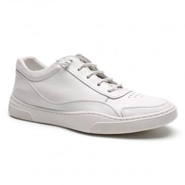 सफेद ऊंचाई वृद्धि जूते पुरुषों के जूते 5CM