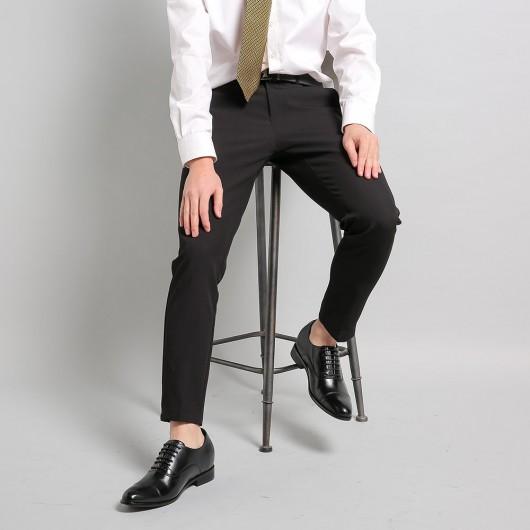 Herrskor med inbyggd platå - Herrklänning Bröllop Oxfords Cow läder Hissskor för män