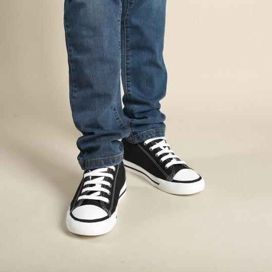 Herrskor med inbyggd platå - Klassisk ökande höjd 6CM Board Canvas Athletic Look Högre Sport Solid Shoes