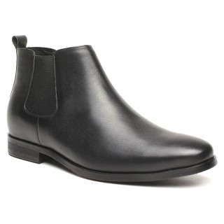 High Heel Boots for Men Height Increasing Chelsea Boots Men Taller Shoes 7 CM / 2.76 Inches