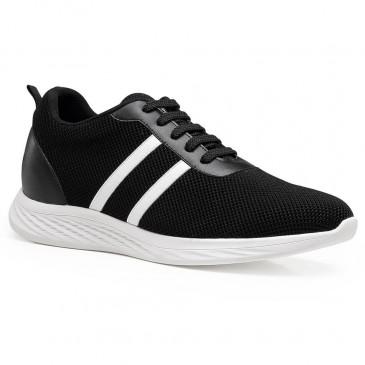 höjdökande sneakers skor svarta sportskor lyft sneakers 6 CM