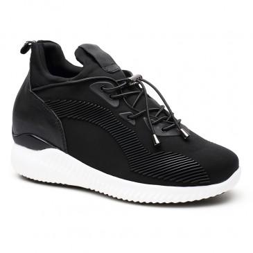 Herrskor med inbyggd platå - Höjd Öka Skor Lift Skor Hiss Sneaker Hidden High Heel Skor för kvinnor 8CM