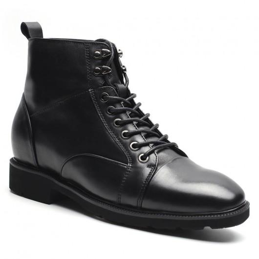 stiefel schwarze männer größere schuhe schnüren sich höhe zunehmende stiefel schuhe 7 cm