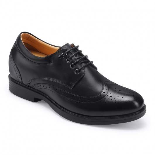 Schwarz Beste Höhe erhöhen Schuhe Schnürschuh Männer kleiden zusätzliche Höhe 8 cm