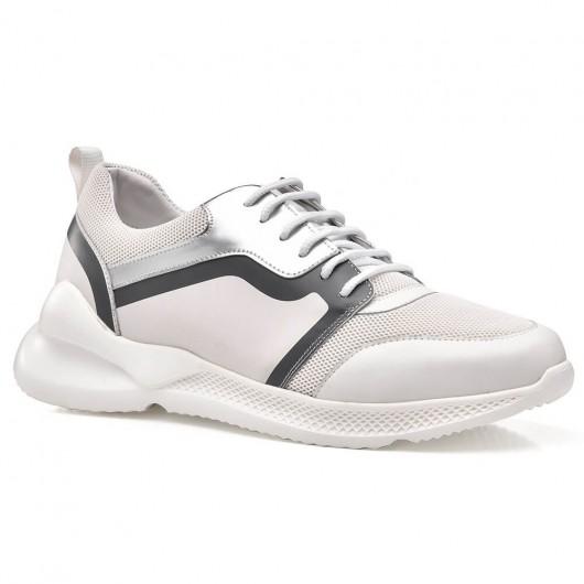 CHAMARIPA höhenerhöhende Schuhe für Herren Herren Aufzug Sneaker weiß 7CM