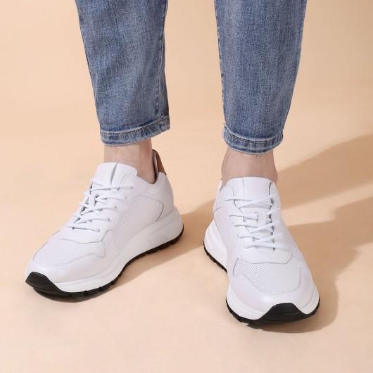 CHAMARIPA aufzug schuhe - hohe absatzschuhe für männer - weiße Lederturnschuhe 7 CM größer
