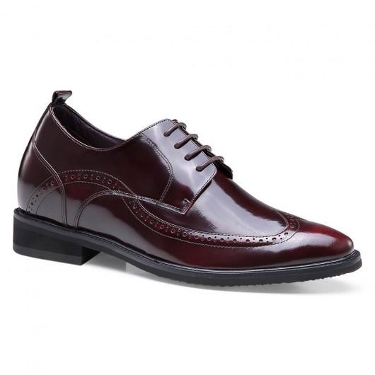 High Heel Herren Abendschuhe Höhe erhöhen Schuhe Leder Wingtip Brogues 7 CM