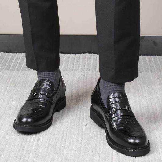 CHAMARIPA schuhe mit erhöhung - schuhe mit hoher sohle herren - Slipper Schuhe 7 CM größer