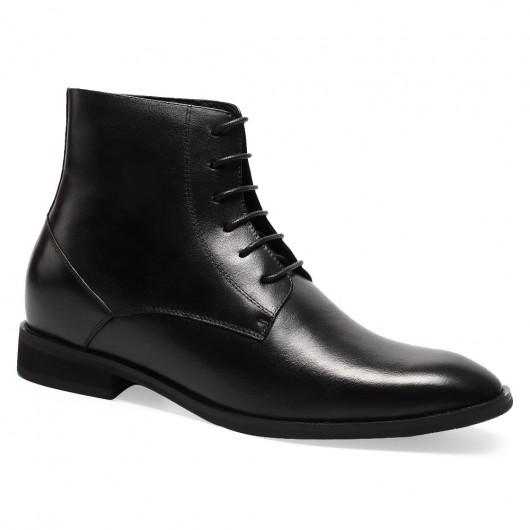 Schwarz Aufzug Boots-Männer kleiden Stiefelette Schuhe
