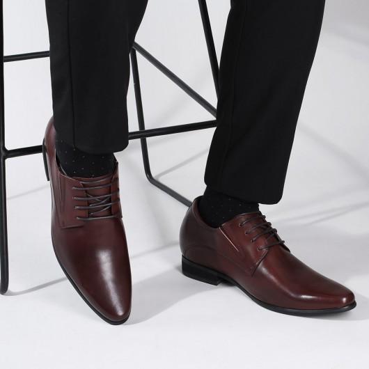 Chamaripa schuhe mit absatz herren - schuhe mit erhöhung für männer - Derby Schuhe für Männer 8CM größer
