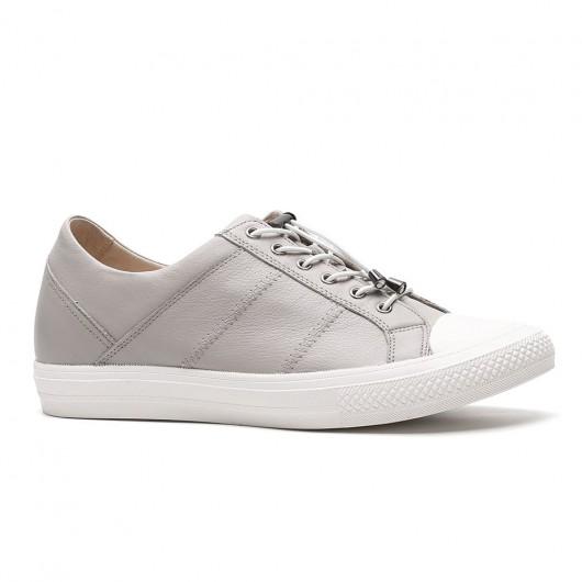 Chamaripa wachsen hohe Schuhe Männer Lift Schuhe grau Höhe Verlängerung Schuhe 6 CM