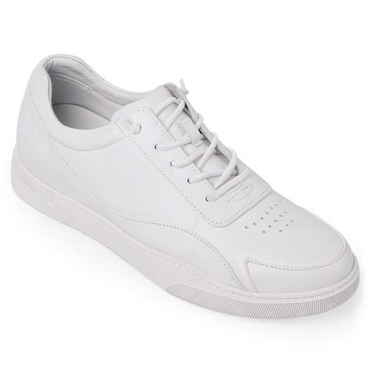 Chamaripa weißer Sneaker Mit Absatz Herren - Sneaker Die Größer Machen - schuhe mit erhöhung für männer 5 CM Größer