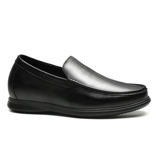 Chamaripa Höhe erhöhen Loafer schwarz Slipper, die Höhe Fahrerschuhe 7 CM gewinnen