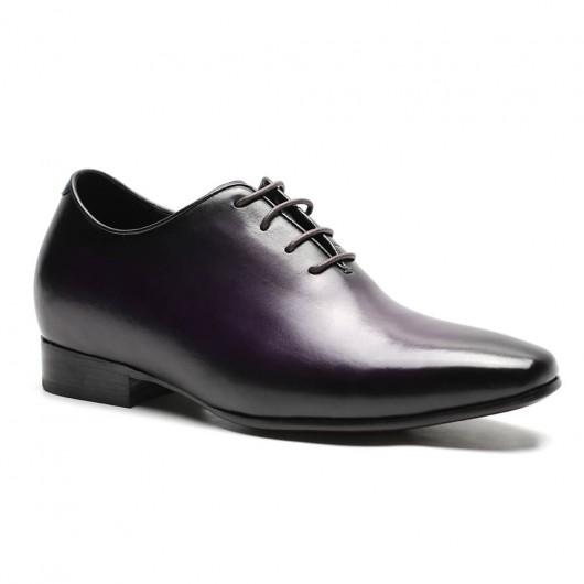 Formelle High Heel Herren Kleid Schuhe Lila Höhe erhöhen Kleid Schuhe 7 CM