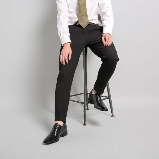 Chamaripa - hohe schuhe für männer - schuhe mit erhöhung für männer - Schwarz Oxford Schuhe 7 CM größer