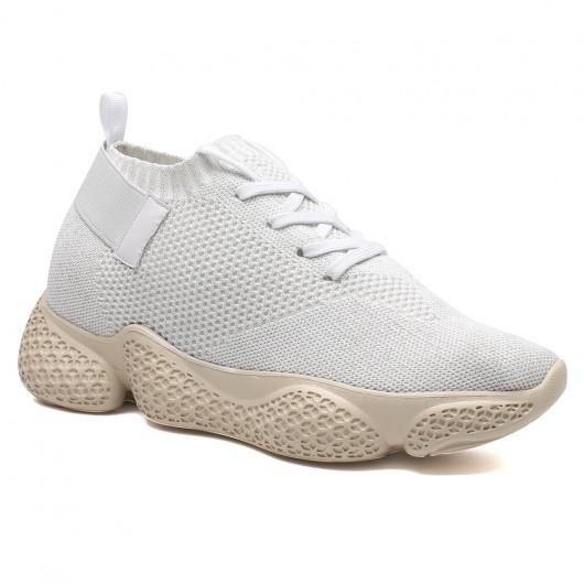 klobiger sneaker für frauen höhe zunehmende höhe zunehmende turnschuhe weiße frauen stricken sneakers 7 cm