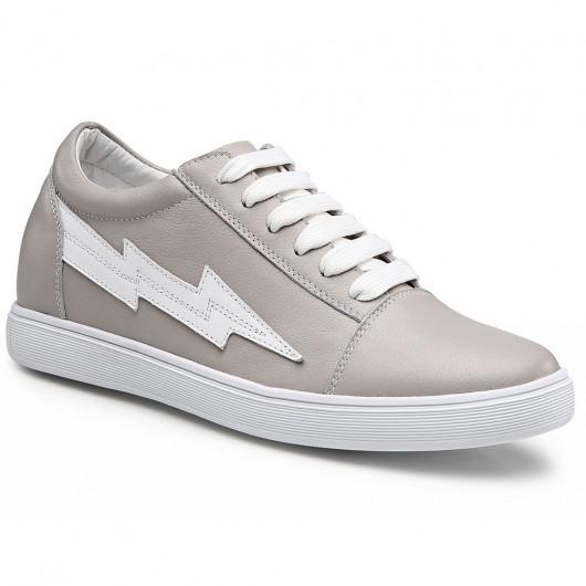 Chamaripa  Frauen keilabsatz sneaker - sneakers mit innenliegendem keilabsatz - grau lässige Schuhe - 6CM größer