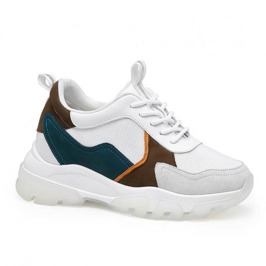 Größenerhöhung Sneakers für Damen Größenerhöhung Schuhe Chunky Sneakers Weiß 8 CM