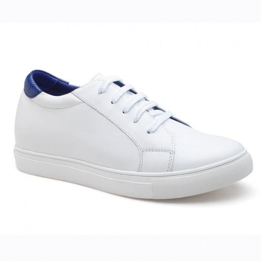 Weiß und Blau Frauen versteckt Schuhen mit hohen Absätzen Höhe Einlegesohle 7CM