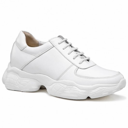 Chamaripa Aufzug Turnschuhe weiß Höhe zunehmende Schuhe Heben Turnschuhe Schuhe für Männer 7CM