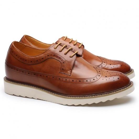 Hoher Absatz Männer Kleid Schuhe braun Höhe Erhöhung Schuhe Herren Kleid Schuhe, die Höhe 7 cm