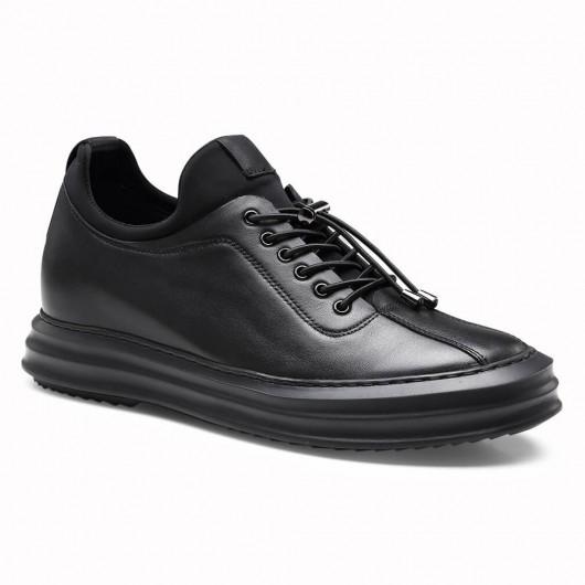 Männer schwarz Größe zunehmende lässige Sneaker Schuhe 6 cm