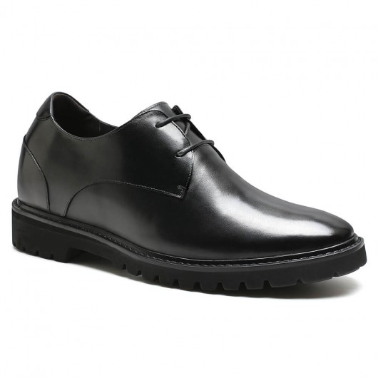 Schwarze Schuhe mit hohem Absatz und Höhe, die Sie größer machen, 9 CM