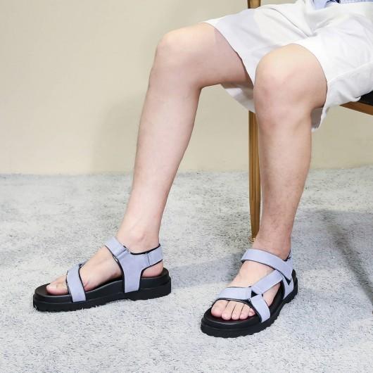 Chamaripa Aufzug Sandalen Höhe Erhöhung Slipper Mode lässig Slip-On Aufzug Schuhe 6CM