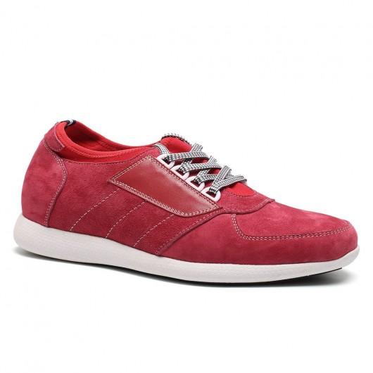 Rot schuheinlagen größer machen Höhe zunehmende Aufzug-Trainer-Schuhe Glossy