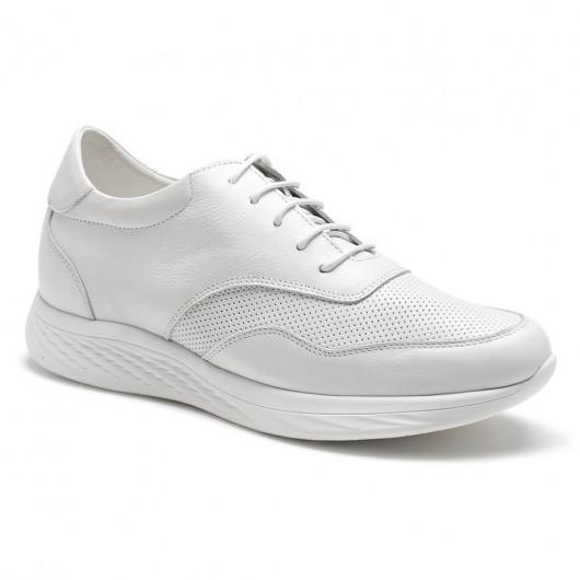 weiße Höhenerhöhungskomfortmänner beiläufige Schuhe 7CM