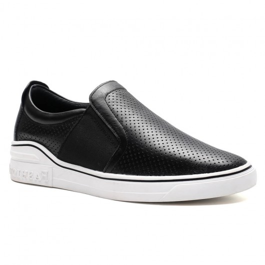 Slip-on casual schwarz höhe erhöhen männer sneaker schuhe 6CM