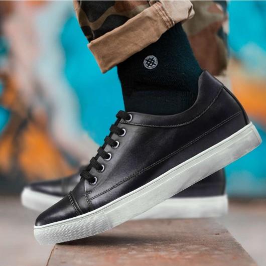 lässige sneakers höhe erhöhen männer schuhe braun / schwarz 6cm