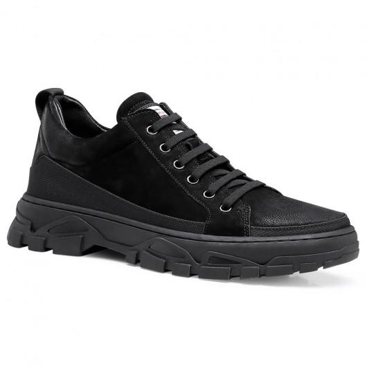Chamaripa Höhenvergrößernde Schuhe für HerrenAufzug Turnschuhe schwarze lässige Turnschuhe 5 CM