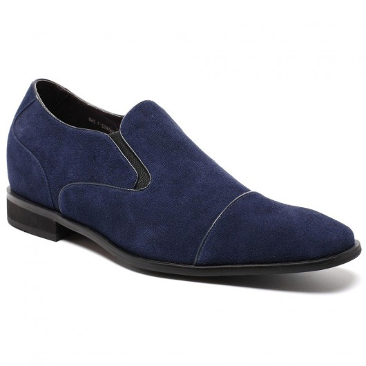 Blau Männer Schuhe Mit Hoher Sohle Höhe Incrasing Aufzug Lederschuhe Stylilsth Herren Schuhe