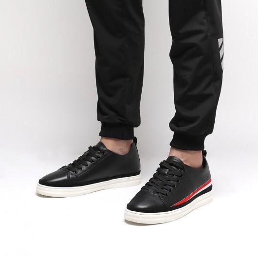 Chamaripa Herrenaufzug Turnschuhe schwarze Männer größer Schuhhöhe Schuhe erhöhen 5,5 cm