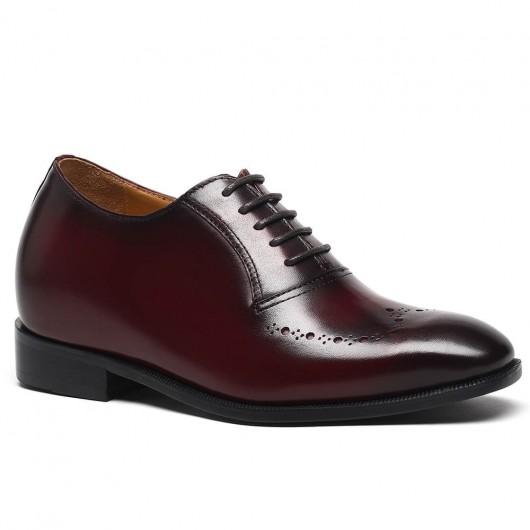 Claret-Rot Customized Neue Art-handgemachte Aufzug Höhe erhöhen Schuhe