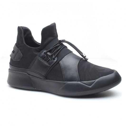 Schwarz Versteckte Höhe zunehmend Laufen Fahrstuhl Schuhe Athletic Lift Schuh 7CM