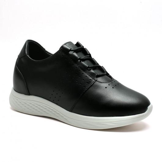 Frauen schwarz Höhe erhöhen Turnschuhe Schuhe 7CM