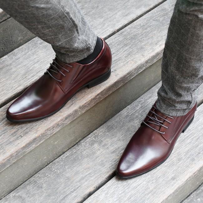Abendschuhe Größe erhöhen Derby Schuhe für Männer 8CM