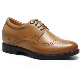 Extra Height 3.15 Inch Brogues Men Dress best height increasing shoes