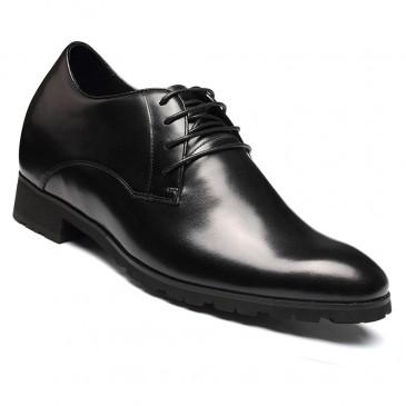 Chamaripa Schuhe die Größer machen - schuhe mit erhöhung für männer 10 CM- schuhe mit verstecktem absatz schwarz