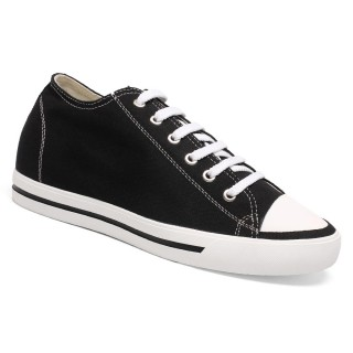 Classic Increasing Height 6CM Board Canvas Athletic Look Taller Sports Solid Shoes