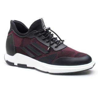 Men Elevator Sneaker Sports Shoes With Hidden Heel Height Increase Shoes