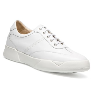 Casual Shoe Lifts White Elevator Shoes for Men Height Rasing Shoes 7CM/2.76 Inches
