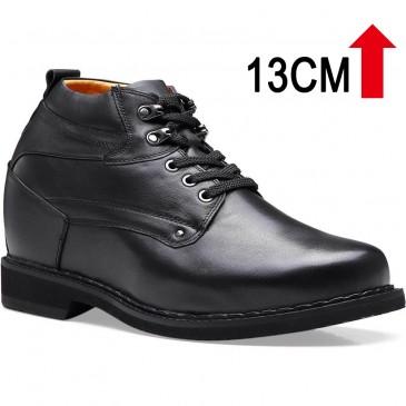 รองเท้าพื้นสูง - รองเท้าบูทสูงผู้ชายรองเท้าผู้ชายรองเท้ายกสูง 5.12 นิ้วความสูงรองเท้าที่เพิ่มขึ้นทำให้ผู้ชายสูง 13 ซม
